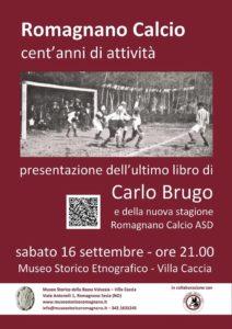 """Copertina libro """"Romagnano Calcio, cent'anni di attività"""""""