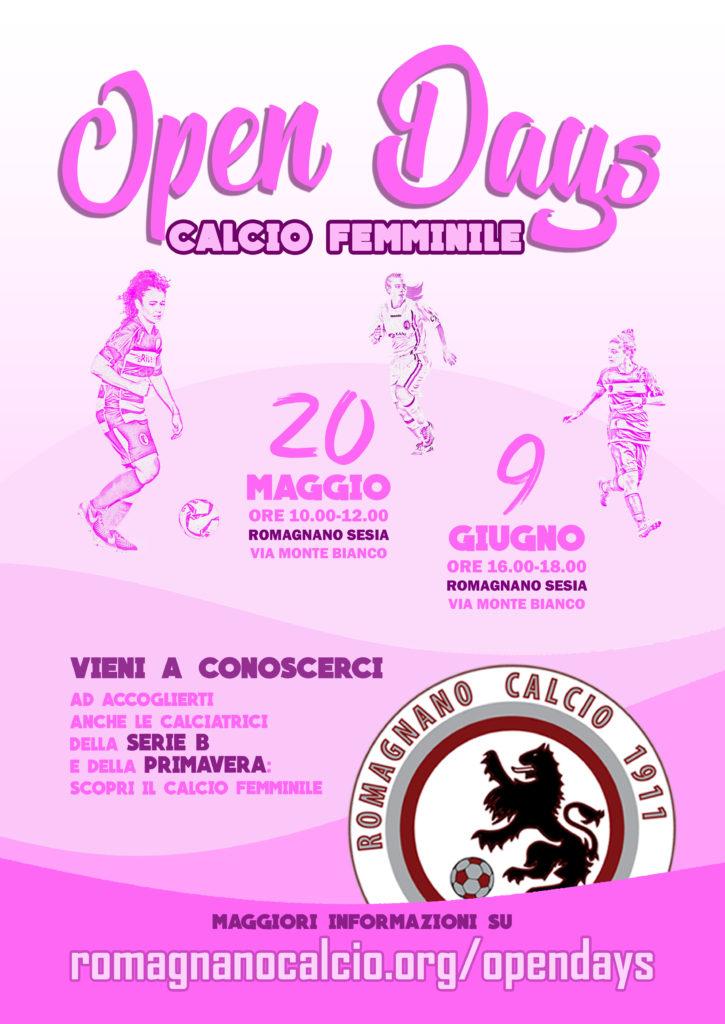 Open Days Calcio femminile 2018